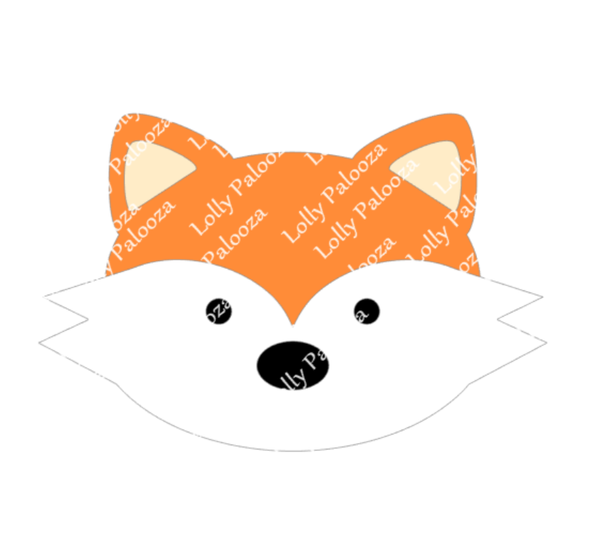 Fox Face SVG. Digital Instant Download. No Physical Items Sent.