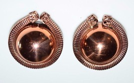 VTG Matisse RENOIR Signed RARE Round Abstract Clip Earrings - $39.60