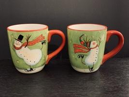 Certified International Susan Winget Skating Snowman Christmas Mug Cup. ... - $19.95