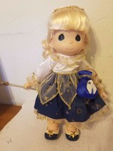 "PRECIOUS MOMENTS 1999 VINYL DOLL 12"" TALL TOOTH FAIRY TOOTH POUCH WAND S... - $14.01"