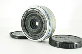 """ Almost Mint "" Olympus M.Zuiko Digital 17mm F2.8 Silver Af Lens From Japan #Tn - $118.79"