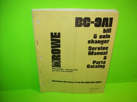 Rowe 1978 BA-4 DOLLAR BILL ACCEPTOR w// Stacker SERVICE MANUAL /& PARTS CATALOG
