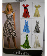 Vogue Easy Options 8470 Awesome Summer Dress Size 8 10 12 14 16 Flared c... - $5.53