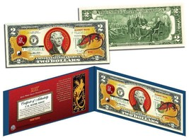 Chinese 12 Zodiac YEAR OF THE RAT Colorized USA $2 Dollar Bill Certified - $17.21