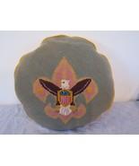 """Vintage Needlepoint American Flag Eagle Throw Pillow 15"""" - $54.48"""