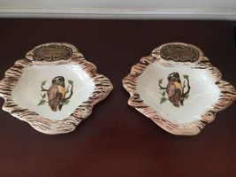 Vintage Treasure Craft MARRIOTT'S GREAT AMERICA Owl Ceramic 2 AshTray - $18.63