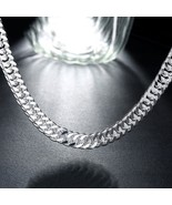 18-36'' MENS Stainless Steel 11mm Silver Tone Cuban Curb Chain Necklace - $12.73