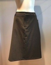 NWT Gap Stretch Pinstripe Pencil Gray Skirt  - Size 14 - $14.99