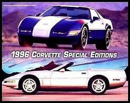 Lot 10 1996 Chevy Corvette Spl Edition Brochures 96 GM - $17.82