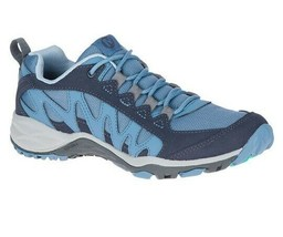 Merrell Womens Lulea Blue Trail Hiking Trekking Sneakers Running Shoes J... - $114.99
