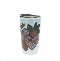 Starbucks Valentine Day Blue Heart Roses Love Ceramic Traveler Tumbler Mug 12oz - $33.96