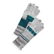 SmartWool Dazzling Wonderland Gloves Grey Womens NWT $40 - $29.99