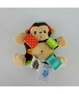 """5"""" Taggies Mary Meyer Monkey Dots Rattle Plush Baby Toddler Toy - $14.84"""