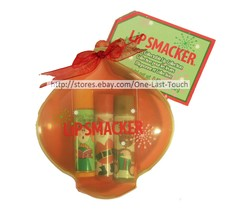 LIP SMACKER 4pc Balm/Gloss Set CUTE & COLLECTABLE Ornament Case HOLIDAY ... - $6.00