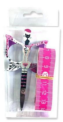 "Primary image for Pink Bohin Cat Scissors Gift Set (3pc set) 3.5"" small embroidery scissors"