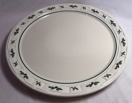 """EX LARGE 14""""1/2 Longaberger Pottery Woven Round Serving Platter Tray NICE - $39.50"""