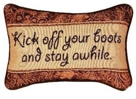 Manual 12.5 x 8.5-Inch Decorative Throw Pillow, Kick Off Your Boots - $16.73