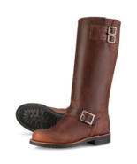 Handmade leather motorcycle boots riding boots leather harness boots  - $299.90