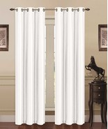 2 IVORY PANEL THERMAL LINED MADONNA BLACKOUT GROMMET WINDOW CURTAIN DRAPE - $14.50