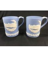 Vintage Wedgwood Blue Jasperware Christmas 1979 Tankard Mug Buckingham P... - $24.99