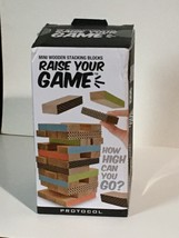 PROTOCOL Mini Wooden Stacking Blocks Game Raise Your Game - $20.49