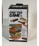 PROTOCOL Mini Wooden Stacking Blocks Game Raise Your Game - $20.49