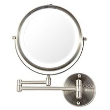 Rucci Wall Mount Makeup Mirror, Battery Operated LED Lighted, 1x/10x Mag... - $64.35