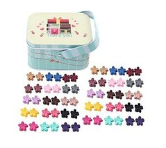 Random of Children Hairpins Lovely Hairpins and Jewelry Box, Flower Clips - €17,55 EUR