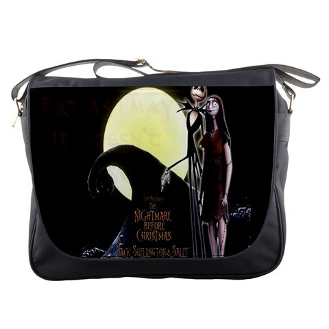 Tim Burton Nightmare Before Christmas Jack And Sally.Messenger Bag Tim Burton Movie The Nightmare And Similar Items