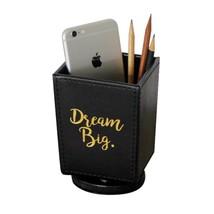 TINTON LIFE PU Spinning Desk Organizer Pen Holder Makeup Brush Container... - $16.76