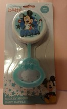 Brand New Mickey Mouse Baby Rattle BPA Free Disney Baby Blue - $2.00