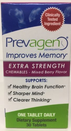 Primary image for Prevagen Extra Strength Chewables Mixed Berry Flavor 30 tabs Improves Memory