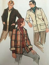 Vogue Sewing Pattern for Men 8972 Vintage 1970s Style Outer Shirt Uncut ... - $11.69