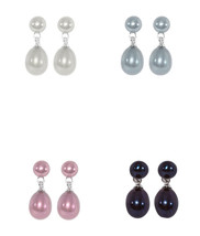 KYOTO PEARL Set of Four Pearl Earrings BNIB - $67.94