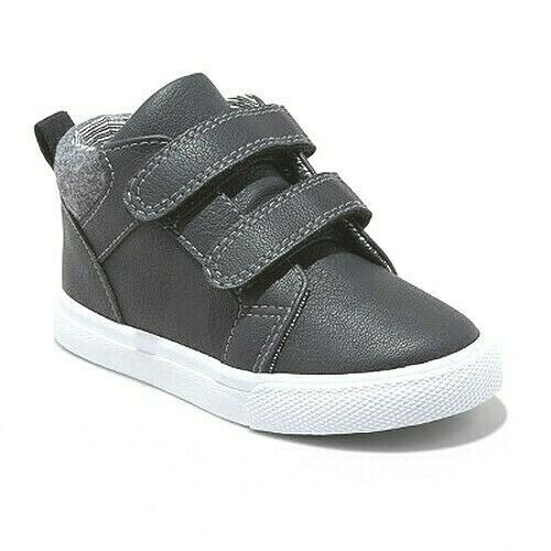 Cat & Jack Boys Toddlers Black Harrison Hook And Loop Mid Top Shoes NWT