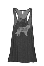 Thread Tank St Bernard Dog Silhouette Women's Sleeveless Flowy Racerback Tank To - $24.99+