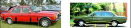 Mercedes Benz W123 Sedan Side Door Moulding Trims+Lower Rocker Panel Tri... - $279.57