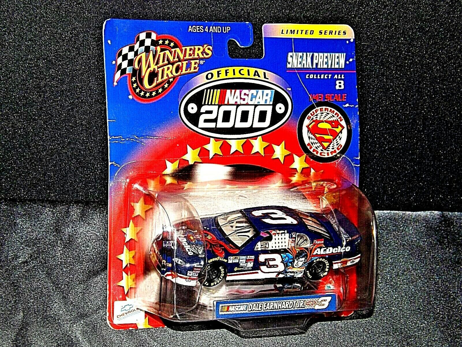 NASCAR Winner's Circle NASCAR Superman black # 3 Dale Earnhardt Limited Series