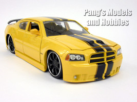 Dodge Charger 2006 SRT8 1/24 Scale Diecast Metal  Model by Jada - Yellow - $34.64
