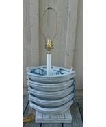 Vintage Shady Lady Lamp Row Boats White Ropes Resort Cottage Shabby Chic - $131.86