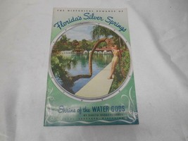Old Vtg FLORIDA'S SILVER SPRINGS TRAVEL BROCHURE GUIDE MANUAL ADVERTISING - $19.79