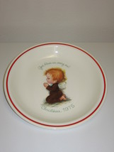 Little Folks Rust Craft Christmas 1975 Collector Plate God Bless Us Ever... - $14.99