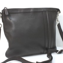 AUTHENTIC GUCCI Leather Shoulder Bag Dark Brown 233329 - $570.00