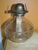 Victorian Oil wall Lamp beehive blocks glass eagle w/o Bracket Kerosene ... - $35.99