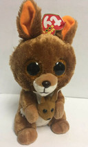 "TY Silk Beanie Boos 6"" KIPPER the Kangeroo Plush & Baby Stuffed Animal 2017 - $9.10"