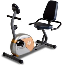 Recumbent Exercise Bike Stationary Fitness Adjustable Bicycle w/ Resista... - $201.87