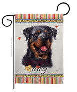 Rottweiler Happiness - Impressions Decorative Garden Flag G160214-BO - $19.97