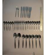Vintage SCC Stainless Steel Holland 36 Pc Assorted Flatware Set MCM Design - $49.50