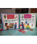365 Science Projects & Activities & 365 Art & Craft Activities Books New... - $16.99