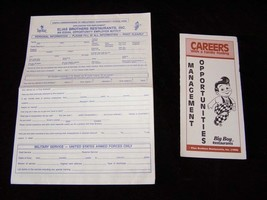 Elias Big Boy Job Application and Management Opportunities Pamphlet 1990s - $19.99